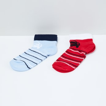 MAX Jacquard Patterned Ankle-Length Socks - Pack of 2 Pairs