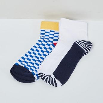 MAX Checked Colourblock Socks - Pack of 2 Pcs.