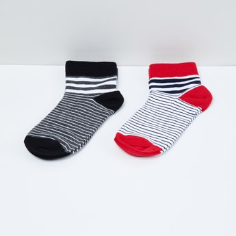 MAX Striped Ankle-Length Socks - Pack of 2 Pairs