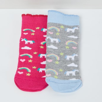 MAX Printed Colourblock Socks - Pack of 2 - 5-7Y