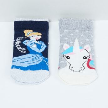 MAX Frozen Print Socks - Pack of 2 - 5-7Y