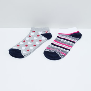 MAX Jacquard Patterned Ankle-Length Socks - Pack of 2 Pairs.