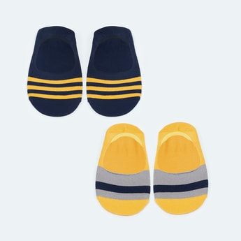 MAX Striped No-Show Socks - Pack of 2 Pcs.