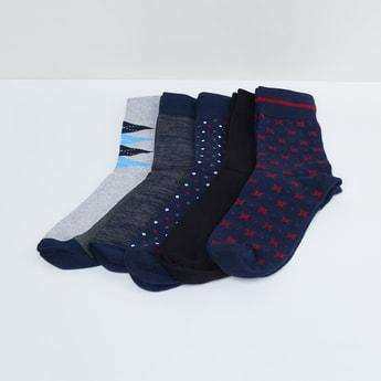 MAX Woven Design Socks- 5 Pairs