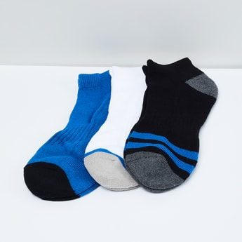 MAX Jacquard Patterned Ankle-Length Socks - Pack of 3 Pairs