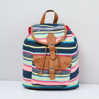 MAX Printed Backpack with Jacquard Weave