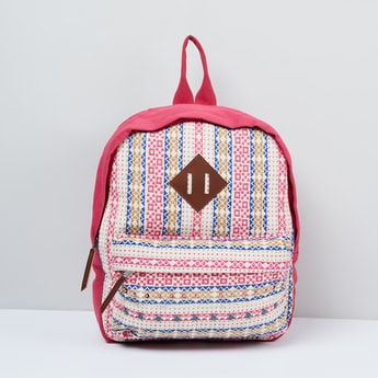 MAX Printed Panelled Backpack