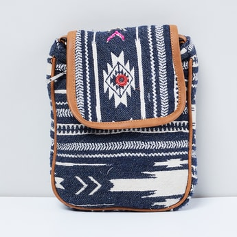 MAX Jacquard Knit Sling Bag with Mirror Work