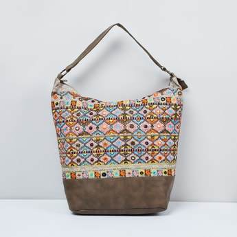 MAX Embroidered Hobo Bag with Mirror Work