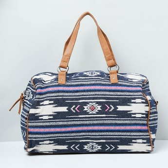 MAX Patterned Weave Duffle Bag