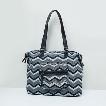 MAX Chevron Print Tote Bag