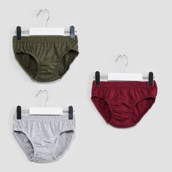 MAX Solid Hipster Briefs - Pack of 3 Pcs.
