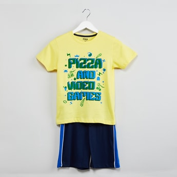 MAX Printed T-shirt with Solid Shorts - Set of 2 Pcs.