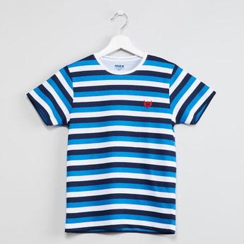 MAX Striped Crew-Neck T-shirt
