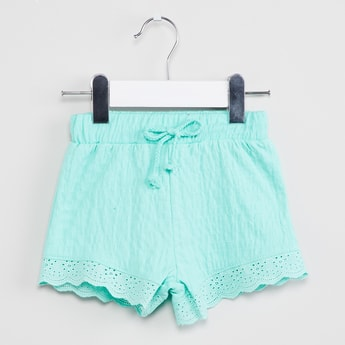 MAX Shorts with Scalloped Lace Hem