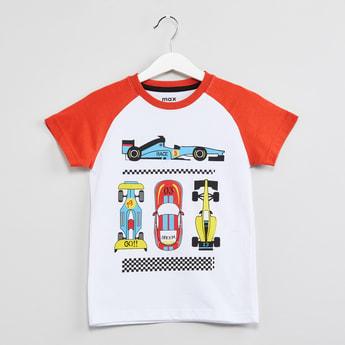 MAX Raglan Sleeves Graphic Print T-shirt