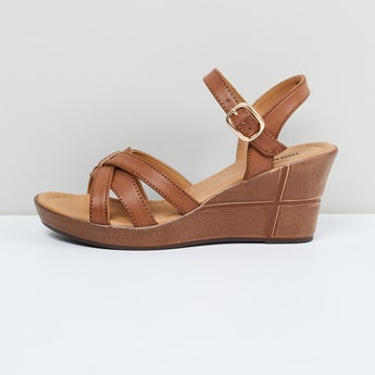 MAX Solid Open-Toe Wedges