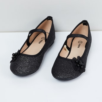 MAX Shimmery Applique Detailed Mary Janes