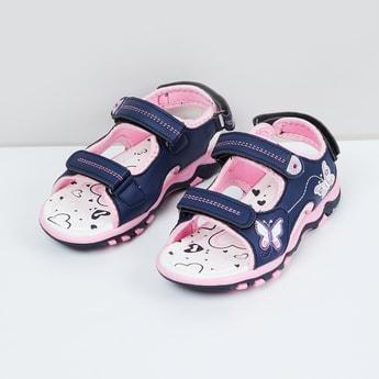 MAX Applique Velcro Strap Sandals