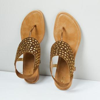 MAX Embellished T-strap Sandals