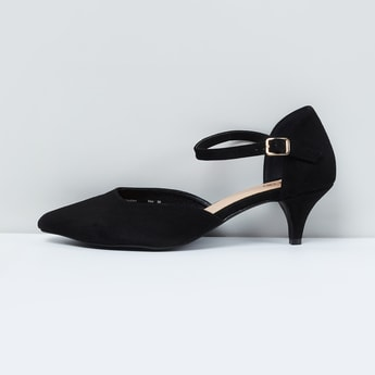 MAX Pointed-Toe d'Orsays with Kitten Heels