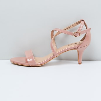 MAX Kitten Heels with Criss-Cross Ankle Strap