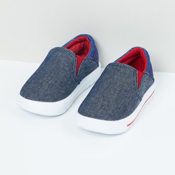 MAX Textured Colourblock Slip-On Shoes