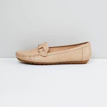 MAX Solid Loafers with Embellishments