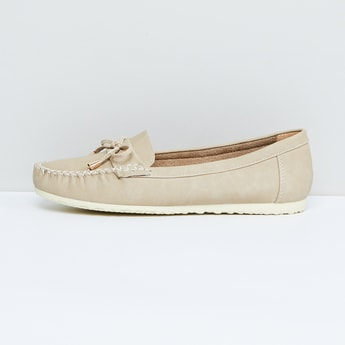MAX Solid Bow Detail Loafers