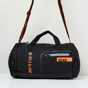 MAX Typographic Print Duffle Bag