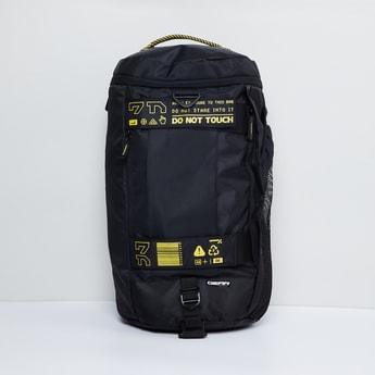 MAX Typographic Print Panelled Backpack