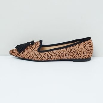 MAX Animal Print Ballerinas