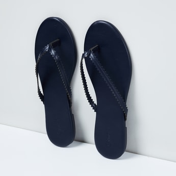 MAX Solid Open-Toed Flats