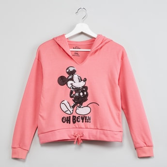 MAX Sequinned Mickey Mouse Hoodie