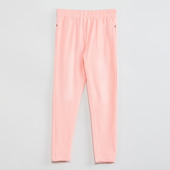 MAX Solid Jeggings with Pockets