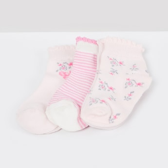 MAX Patterned Ankle-Length Socks - Pack of 3