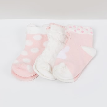MAX Patterned Ankle-Length Socks - Set of 3