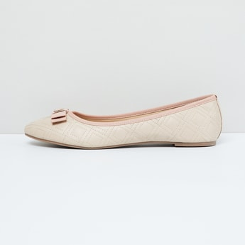 MAX Quilted Ballerinas with Bow