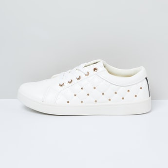 MAX Embellished Lace-Up Sneakers
