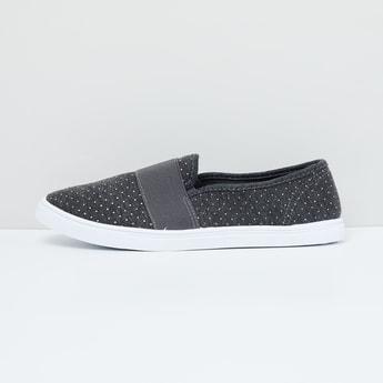 MAX Embellished Canvas Slip-On Shoes