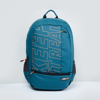 MAX Printed Backpack with Zip Closure