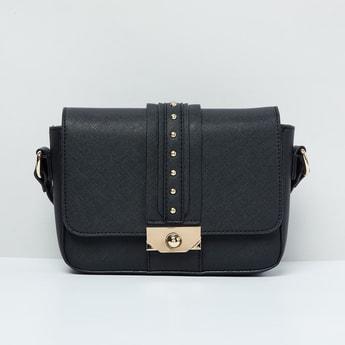 MAX Embellished Flap-Closure Sling Bag