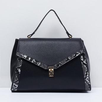MAX Textured Handbag with Flap