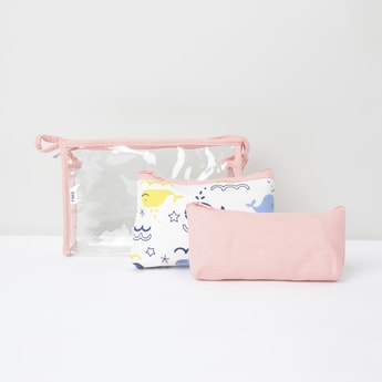 MAX Printed Transparent Pouches - Set of 3