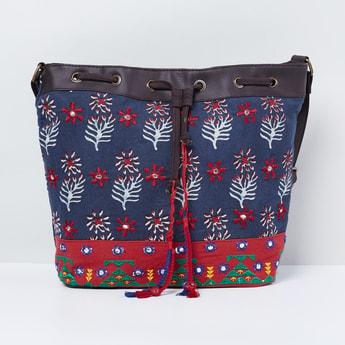MAX Printed Tote Bag with Tassels