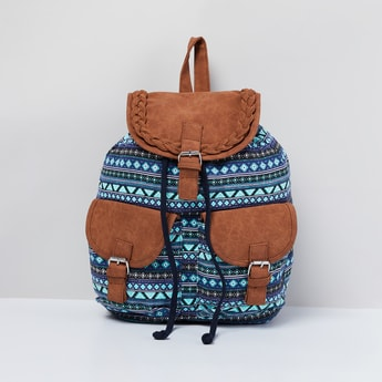 MAX Printed Backpack with Flap