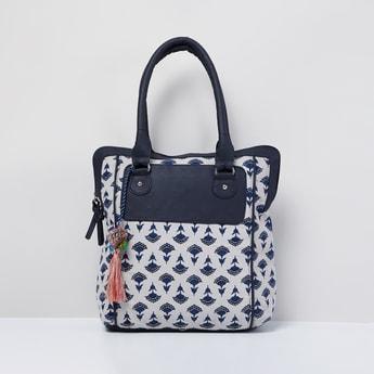 MAX Printed Tasselled Tote Bag