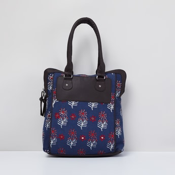 MAX Printed Tote Bag with Rolled Handles