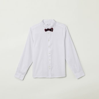 MAX Solid Full Sleeves Shirt with Bow