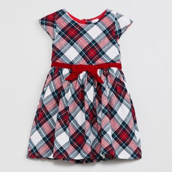 MAX Checked Fit-And-Flare Dress